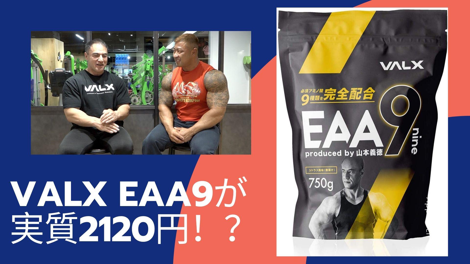 山本義徳監修【VALX EAA9】を安く購入する方法